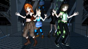 MMD Discotheque + Newcomers by CrimsonKingie