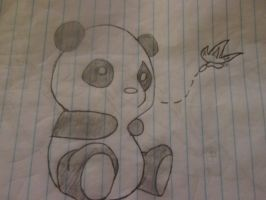 panda and butterfly by Meyoulove