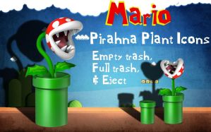 Mario Piranha Plant Trash Icon by priorityanddefault
