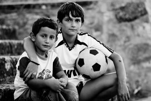 Young street footballers by mario19