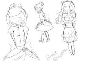 Elenor Cinnamon  Sketches by bloodykissesfall