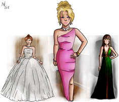 Princess Peach,OCs Prom Dresses by thalle-my-honey