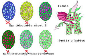 Egg Adoptable sheet 5only one Terrible Terror left by woofwoofsg1