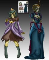 Skeleton Princess and Princess Beautiful by Oddmachine