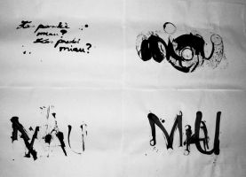 Caligraphy 1 by pagone