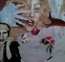 Gaga collage WIP 2 by FireLioness