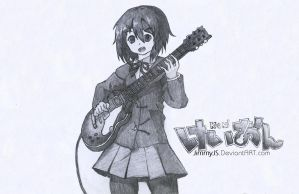 Yui Hirasawa Sketch (K-On!) by JimmyJS