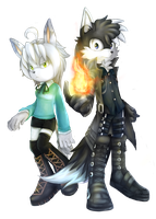 Whilent and Blacky PC by Clasmaticii3
