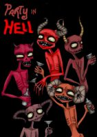 Party in HELL by Zombie-Pip