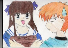 Kyo and Tohru :D by CookieznMilk12
