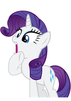 Rarity Gasp Vector by Victoriathekitty