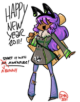 HNY2011:Have a bunny adventure by divi