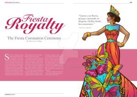 Fiesta Royalty Magazine Spread Layout by ReaperClamp