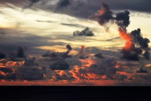 Sunset clouds 1 - Rapa Nui by wildplaces