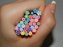 fimo flowers by 15071994