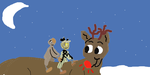 5 and 6 meets the red-nosed reindeer named Rudolph by Snake557