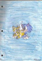 Baby Sonic and Baby Tails by Carurisa