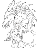 Eragon and Saphira designWIP by ElizaLento