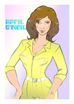 TMNT April O'Neil doodle by theblindalley