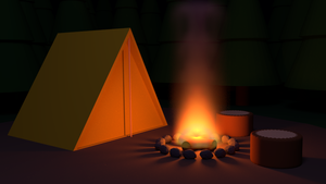 Night At Camp by bywilliam
