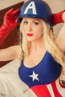 Pin-Up Captain America II by EnchantedCupcake