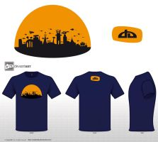City in dome - blue shirt by arobeddy