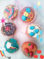 Mlp cupcakes by Cometshina