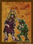 Zombie Kermit and Piggy by cool-slayer