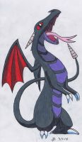 Dark-Dragon Fakemon - Wryvern by VibrantEchoes