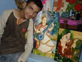me with my work by ajishrocks