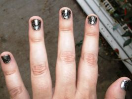 Stargate Chevron Nails by MyWorld1