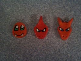 Clay Charmander Evo Pendants by Esca-Lutum