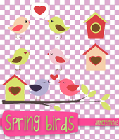 Spring birds png by alenet21tutos by alenet21tutos