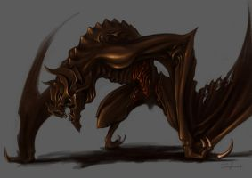 bat creature concept by akakuma