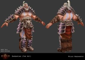 Diablo III Barbarian Fan Art by 31883milesperhour