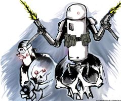 Robots speed drawing redux by YouCannotFalter