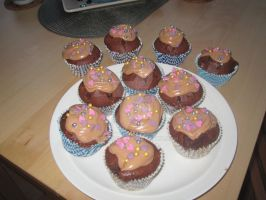 Toblerone Cupcakes!! by Misa-kitty