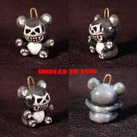 Death Bear Charm pendant ooak by Undead-Art