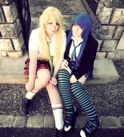 Panty and Stocking Cosplay! by Mitzuki-Maewen