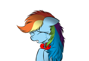 Rainbow Dash broken heart by V-D-K