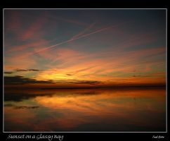 Sunset on a Glassy Bay by Hawk2064