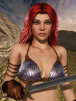 RED SONJA (Close-up) by Furbs3D