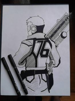 Simple Soldier 76 by TruiArts