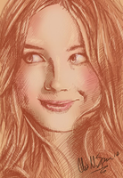Karen Gillan / Amelia Pond phone drawing by Busoni