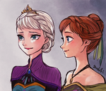 Elsa and Anna by Yudukichi