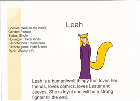 Leah ID :D by HaelOnFire