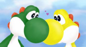 Yellow And Green Yoshi by ras-blackfire