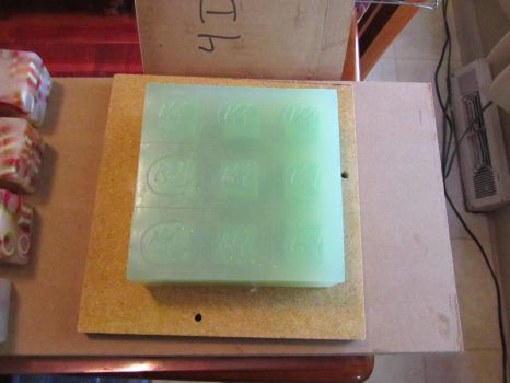 Slab of Cucumber-Mint Soap by tinkerheck