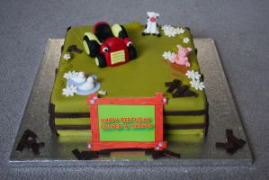 Tractor Tom Cake by elainewhy