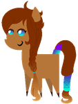 Bouncy Sunset Dream Chibi (Contest Prize) by Cookie-Dough-Batter